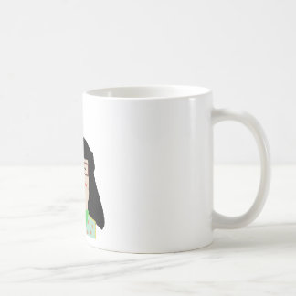 she to hispter to lover funny cartoon basic white mug