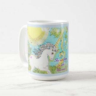 She was born to ride Unicorns! Coffee Mug
