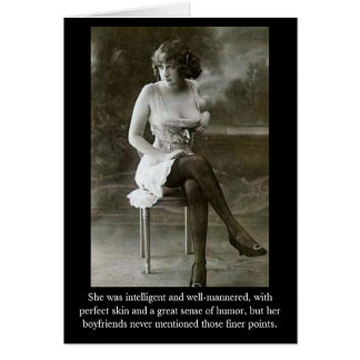 She was intelligent and well-mannere... card