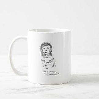 she was trying very hard to wink mug