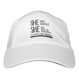 She was warned --  hat