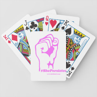 She Was Warned, Nevertheless, She Persisted Bicycle Playing Cards