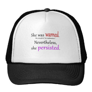 She Was Warned Text Cap