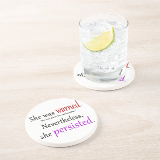 She Was Warned Text Coaster