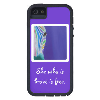 She who is brave is free. iPhone 5 cover