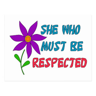 She Who Must Be Respected Postcards