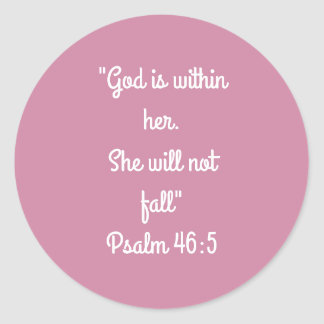 """""""She will not fall"""" Craft Stickers"""