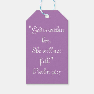 """She will not Fall"" Scripture Gift Tag"