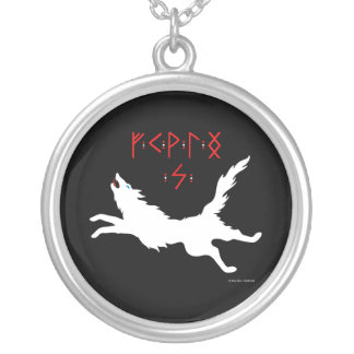 """She-Wolf Runes"" Black Necklace"