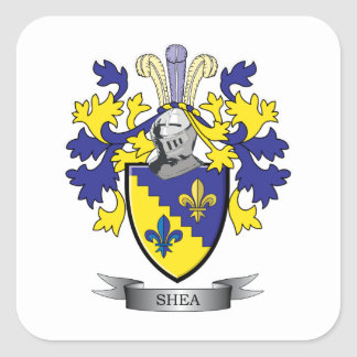 Shea Coat of Arms Square Sticker