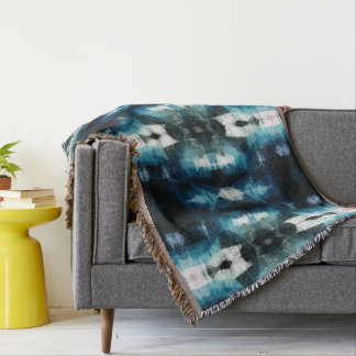 Shear Blue Rustic Western Afghan Throw Blanket
