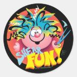 SHEAR FUN ©StyleStickers™ Round Sticker