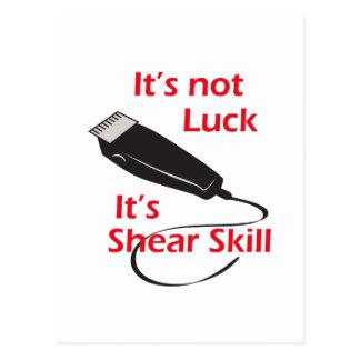 SHEAR SKILL POSTCARD