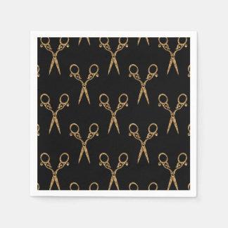 Shears (gold) disposable napkins