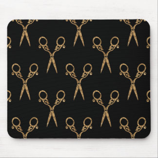 Shears (gold) mouse pad