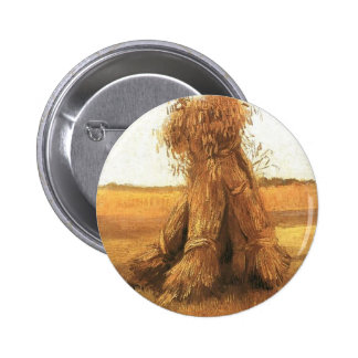Sheaves of Wheat in a Field van Gogh Buttons