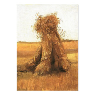 Sheaves of Wheat in a Field, Vincent van Gogh Business Card Template