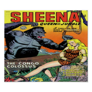 Sheen Queen of the Jungle Comic Book Poster