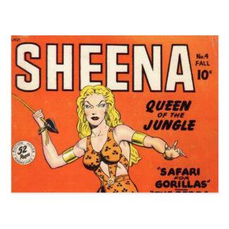 Sheena: Jungle Woman Comic book Postcard