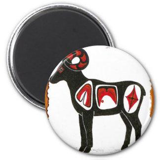 sheep 001 6 cm round magnet