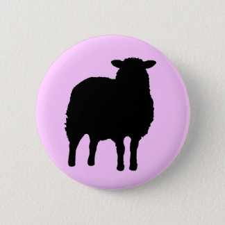 SHEEP 6 CM ROUND BADGE