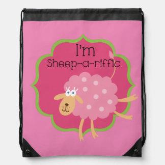 Sheep a Riffic Drawstring Bag