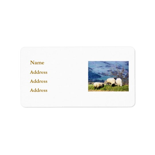 SHEEP ADDRESS LABEL