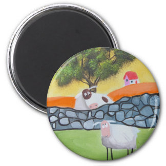 SHEEP AND COW FRIDGE MAGNET