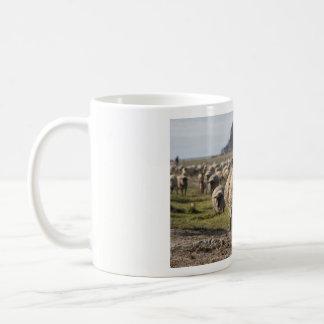 Sheep at the Mont Saint Michel Coffee Mug