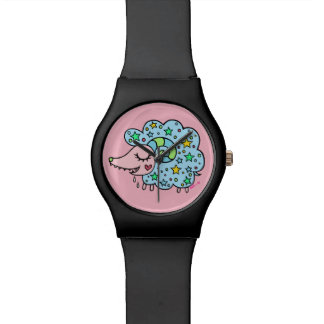 Sheep (blue) of star handle watch