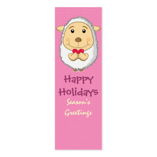 Sheep Bookmark Pink Pack Of Skinny Business Cards