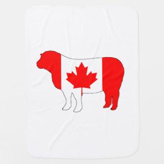 Sheep Canada Baby Blanket