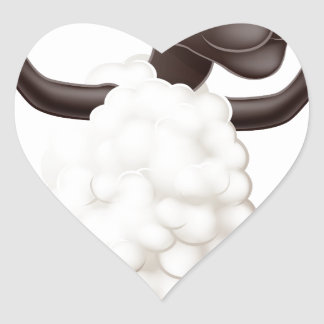 Sheep cartoon character sticker