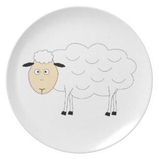 Sheep Character Party Plates