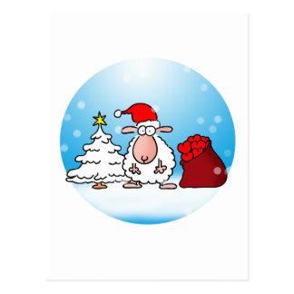 Sheep Christmas Postcard