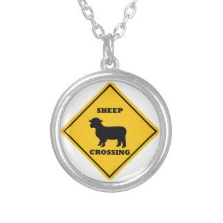 Sheep Crossing Street Sign Jewelry