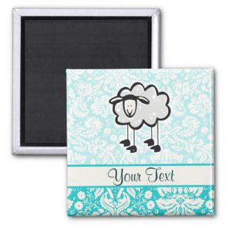 Sheep; Cute Square Magnet