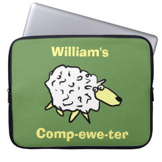 Sheep Design Comp-ewe-ter! Laptop Sleeve
