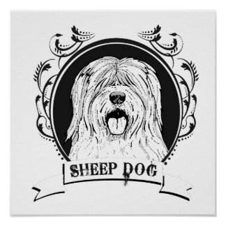 SHEEP DOG (2) PRINT
