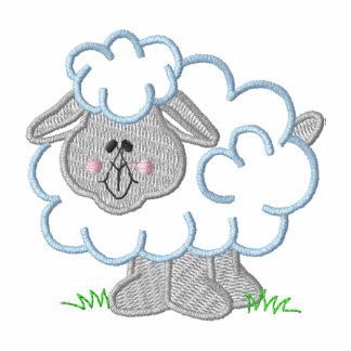 Sheep Embroidered Hooded Sweatshirt