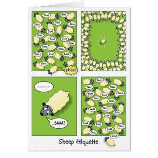 Sheep Etiquette (birthday) Greeting Card