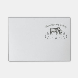Sheep Farm Funny French Expression Vintage Style Post-it® Notes