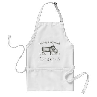 Sheep Farm Funny French Expression Vintage Style Standard Apron