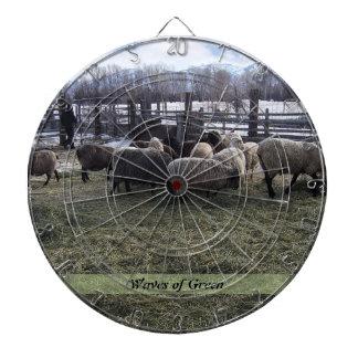 Sheep Feeding Time Dartboard With Darts