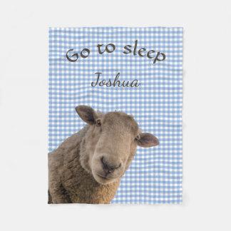 Sheep Go to Sleep Personalized Fleece Blanket