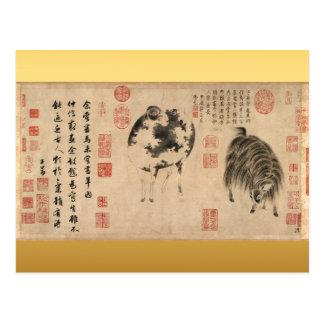 Sheep Goat Chinese New Year Zodiac Postcard