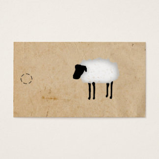 Sheep Hang Tag Business Card