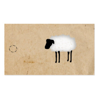 Sheep Hang Tag Pack Of Standard Business Cards