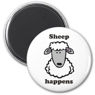 Sheep happens refrigerator magnets