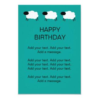 Sheep Happy Birthday Kids Party Invite